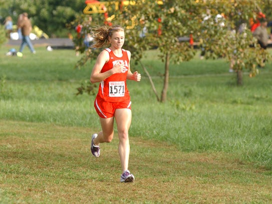 This is a 2010 photo of Courtney Frerichs competing