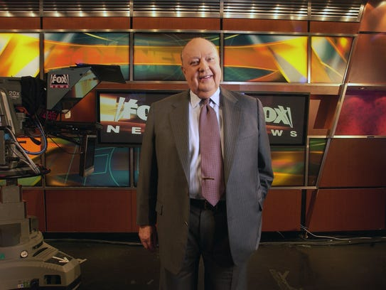 Former Fox News CEO Roger Ailes poses in the Fox News