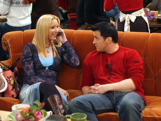 "Lisa Kudrow and Matt LeBlanc in ""The One With the Blind"