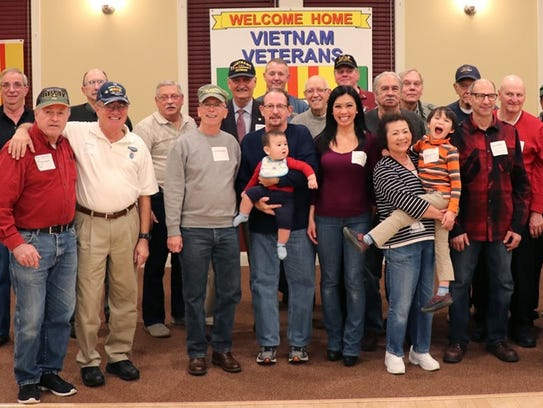 "Vietnam veterans were invited to a ""thank you"" dinner"