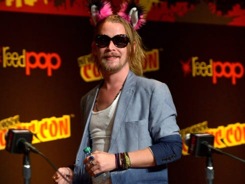 Macaulay Culkin speaks at the 'Robot Chicken' Panel during New York Comic Con 2013 at the Javits Center on Oct. 11.