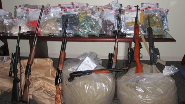 Mississippi Bureau of Narcotics agents seized drugs, weapons, vehicles and cash in a recent raid.