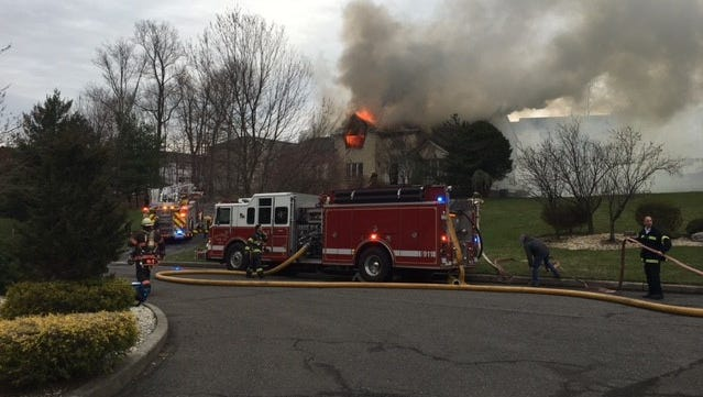 One person was injured and a Stark Court house has suffered severe damage in a blaze this morning.