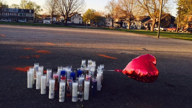 A memorial has been created at Girard Park to remember Wayne Allen Weedon Jr. Weedon was fatally shot on Sunday.