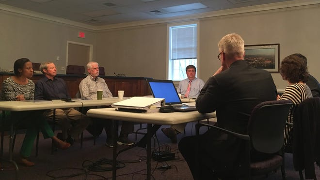 Waynesboro City Council members and staff discuss begin discussion of the next city budget on Monday, April 4, 2017.