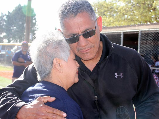 Former Deming High softball coach Paul Maynes gets