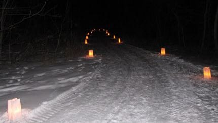 Candlelight events are popular in state parks in the winter.