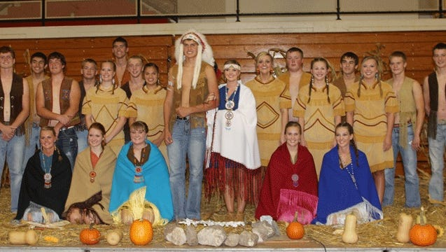 The Sisseton High School homecoming ceremony has come under fire for its use of Native American imagery. The school's nickname is the Redmen.