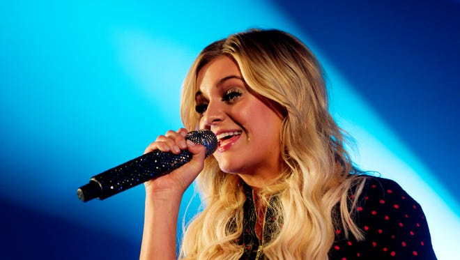 Kelsea Ballerini performs at Central High School in Knoxville, Tennessee on Saturday, October 28, 2017. Ballerini, of Knoxville, celebrated the release of her second album, Unapologetically, at her old high school.