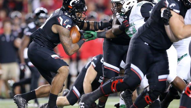 Gerrid Doaks rushed for a career-high 149 yards against Tulane last week. Doaks has taken over as the primary University of Cincinnati running back.
