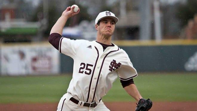 Mississippi State pitcher Dakota Hudson shutout Auburn on Friday.