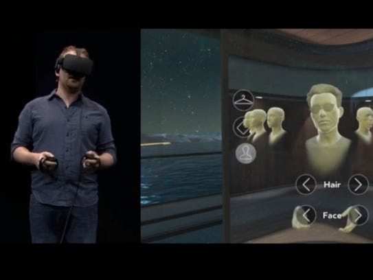 Oculus developers were shown a new avatar creation