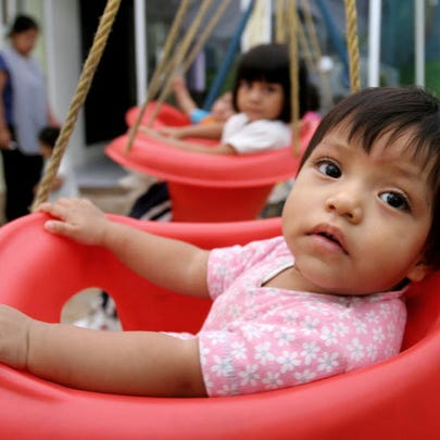 Children waiting for adoptions in Guatemala City, Guatemala,