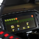 Kurt Busch drove with a digital dashboard during the 2015 Bojangles' Southern 500 at Darlington Raceway.