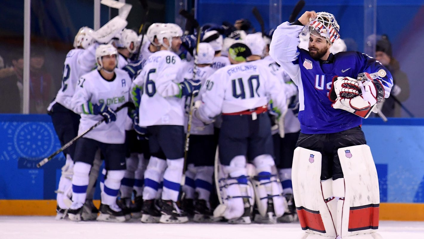 Ex-Wing Jan Mursak, Slovenia stun U.S. in hockey opener