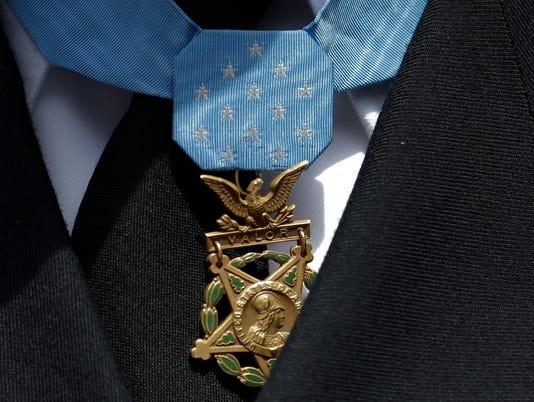 AP Giants Padres Medal of Honor Baseball