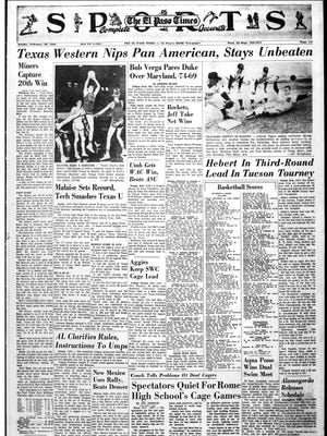 Sports page that ran on Feb. 20, 1966.