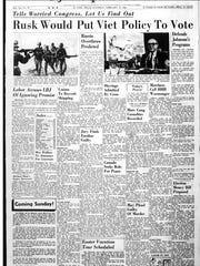 Front page that ran on Feb. 19, 1966.