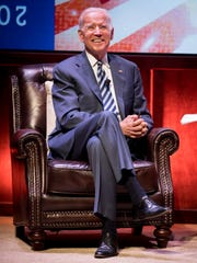 Former Vice President Joe Biden speaks at Vanderbilt University in Nashville, Tenn., Tuesday, April 10, 2018.