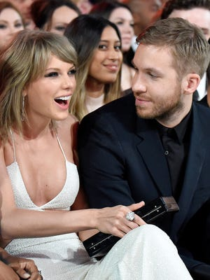 Taylor Swift and Calvin Harris at the Billboard Music Awards in Las Vegas on May 17, 2015.