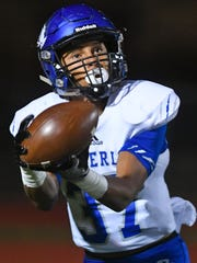 Waverly Central sophomore J.D. Dixon gets a reception for six points as the visiting Tigers traveled to Memphis to face-off with Trezevant during Friday night's prep playoff action.