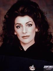 """Marina Sirtis as Deanna Troi on """"Star Trek: The Next"""