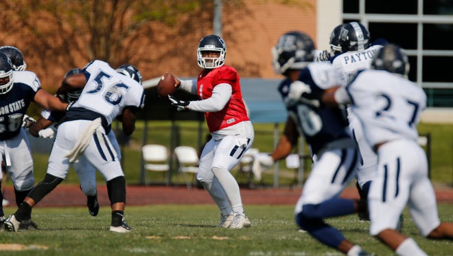 Quarterback LaMontiez Ivy has started JSU's past two openers against FBS schools and will look to start a third at UNLV this fall.