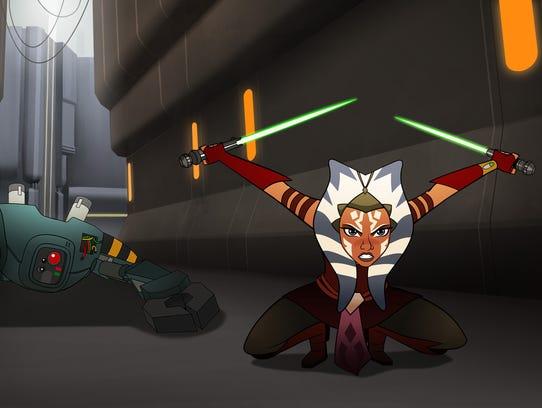 Ahsoka Tano is voiced by Ashley Eckstein in 'Star Wars