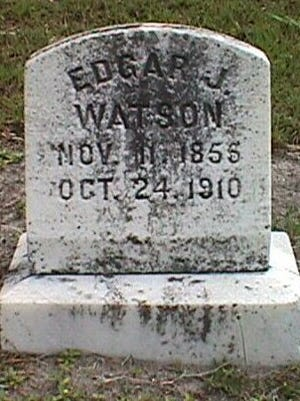 "Here lies Edgar ""Bloody"" Watson in the Fort Myers Cemetery, where director George Romero would film part the 1985 cult classic ""Day of the Dead"" 75 years later."