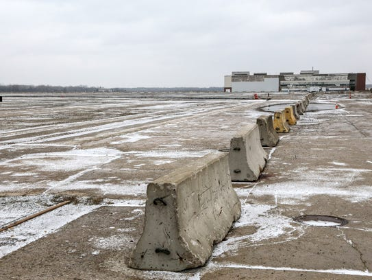 Land on the former floor of the 335-acre Willow Run