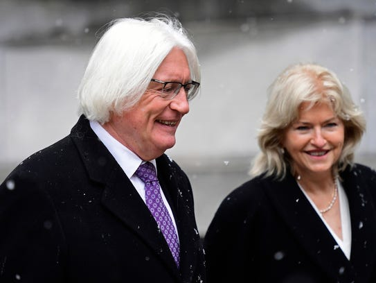 Tom Mesereau and Kathleen Bliss, defense lawyers for