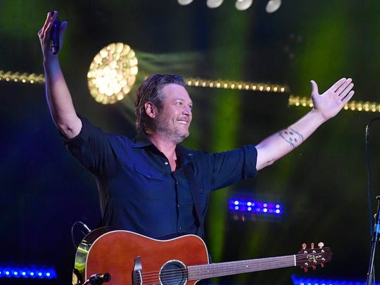 Blake Shelton performs at the 2018 CMA Music Fest on June 8, 2018, at Nissan Stadium in Nashville.