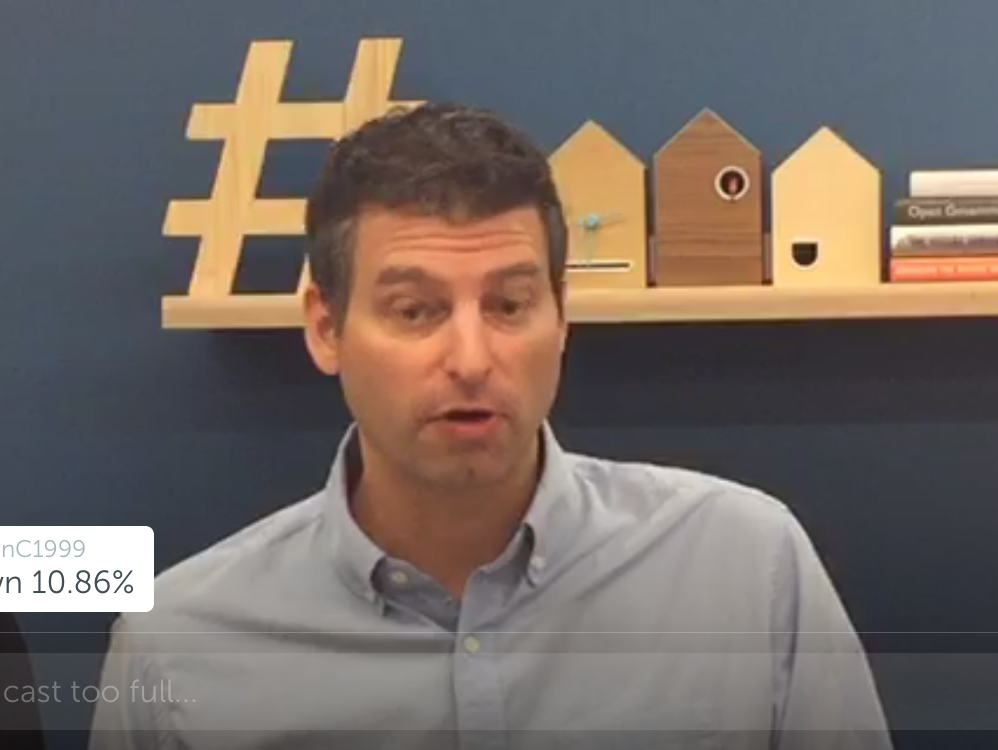 Twitter Chief Operating Officer Adam Bain on the third-quarter earnings call via Periscope.