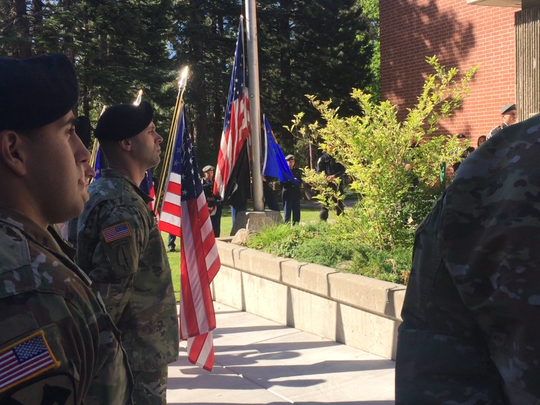 Incline High School performs its 15th annual ceremony on Friday in remembrance of the Sept. 11, 2001 attacks.