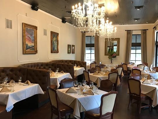 Dining room at Southern Social