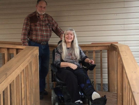 Bill Rainey, left, and Barbara Rainey are from Missouri.