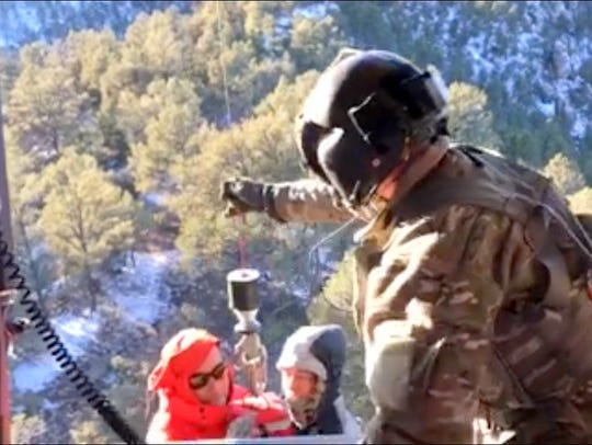 Two groups had to be rescued via helicopter Christmas