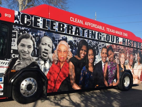 Two Corpus Christi Regional Transportation Authority buses will be wrapped for February to commemorate Black History Month.