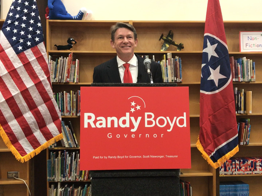 Randy Boyd kicked off his campaign for governor of Tennessee Tuesday morning at New Hopewell Elementary School in Knoxville.