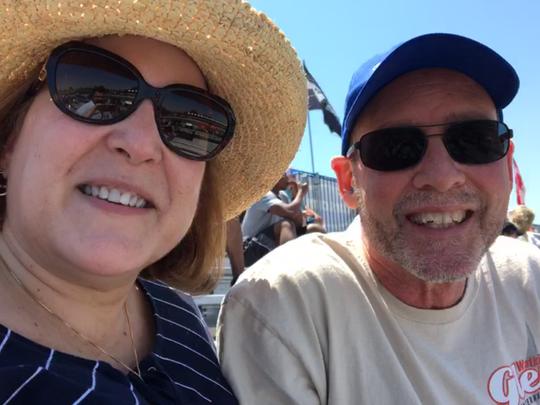 Linda and Michael Hund of Ellicott City, Md. enjoy