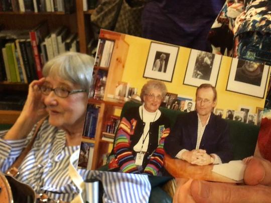 Sarah Fulgham's photo with John Grisham from 2002.