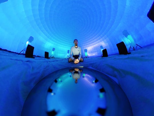 The 3-D Sound Immersion Igloo will calm frazzled Fringe nerves.