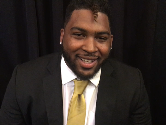 Alabama State offensive lineman Tytus Howard during