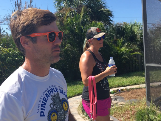 Jeremy and Dana Hutcherson, of Cocoa Beach, were relieved their water came back on Wednesday morning and thankful to the city workers who made it happen.