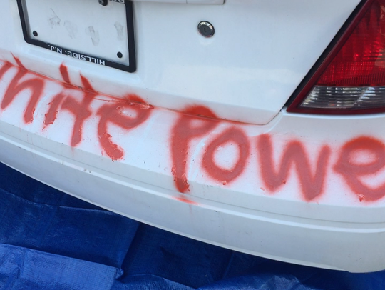 Wilmington resident Nicole Hill's car was vandalized