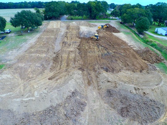 A new extreme sports track called Cajun BMX is under-construction