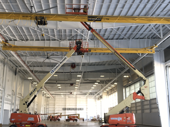 U.S. Coast Guard Sector/Air Station Corpus Christi is putting the finishing touches on its new facility at the Corpus Christi International Airport. The building is scheduled to be fully operational next month.
