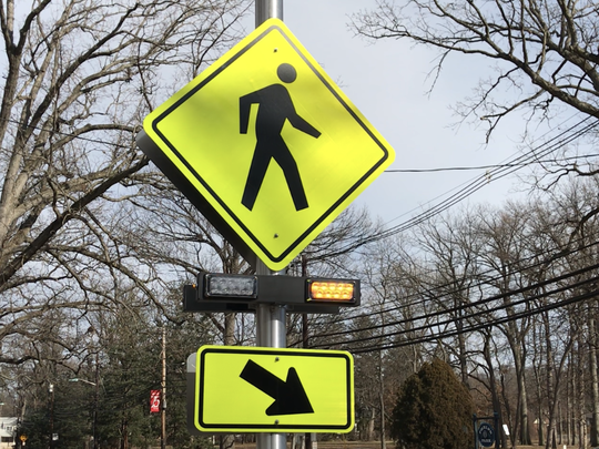 This Pedestrian Hybrid Beacon at a fatal crash site on River Road in Teaneck is one of the few in New Jersey that have been proven effective nationally in curbing the recent rise in pedestrian crashes an deaths.