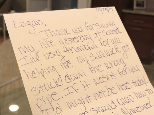 Logan's parents share the thank you note written by
