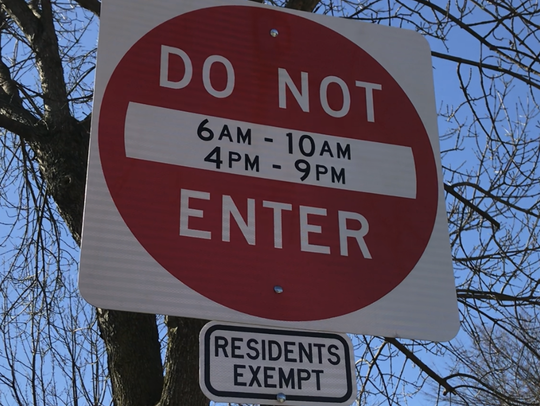 """Do Not Enter"" signs now block out-of-town, rush-hour"